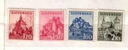1941 Slovak Towns  Mi 81/84 4v.-MNH Slovaquie / Slovakia - Nuevos