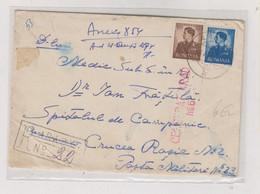 ROMANIA WW II ARAD 1942 Censored Registered Cover - 2. Weltkrieg (Briefe)