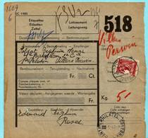 Pakket Van De Soldaat, Spoorwegafst. FLORENNES CENTRAL 06/09/1939 Naar Villers-Perwin - 1923-1941
