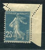 RC 20320 FRANCE N° 140 TYPE SEMEUSE 25c BLEU VARIÉTÉ DE PIQUAGE NEUF * MH TB - 1906-38 Sower - Cameo