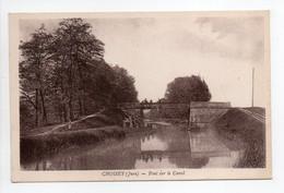 - CPA CHOISEY (39) - Pont Sur Le Canal 1939 - Cliché Karrer - - Andere Gemeenten