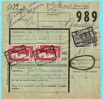 Militaire Colli Van 3,4 Kg, Spoorwegafst. GHLIN 10/05/1951 + Manuscript ACCEPTé AU BUREAU DES POSTES - TEVEEL GEWICHT - 1942-1951