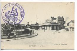 Guerre 14 18 SOISY Essonne Cachet Violet Dépôt De Physiothérapie De Soisy Mai 1917    ....G - Guerre De 1914-18
