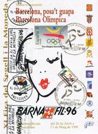 39405. Folleto BARCELONA 1996. Expo BARNAFIL 96. Posa't Guapa. Rodillo Exposicion - 1991-00 Cartas