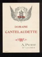 Etiquette De Vin - Domaine Cantelaudette -  A. Petit  à  St Loubès  (33)  -  Thème Personnage  Gaulois - Sin Clasificación