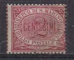 SAN MARINO 1894-99 CIFRA O STEMMA NUOVI COLORI SASS. 26 MNH XF - Unused Stamps