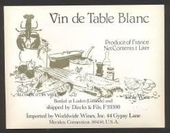 Etiquette De Vin De Table Blanc  -   Thème  Fruits De Mer - Sin Clasificación
