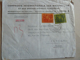 PORTUGAL PLI EXPRESS POUR LA FRANCE - Briefe U. Dokumente