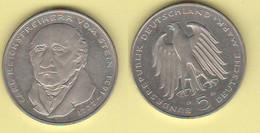5 Deutsche Mark 1981 G Heinrich Friedrich Karl Von Stein Germania Deutschland Germany - [10] Conmemorativas