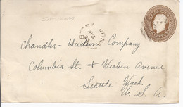 16504) Canada Cover Brief Lettre 1923 Front BC British Columbia Post Office Postmark Cancel Saturna - Cartas