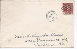 16509) Canada Cover Brief Lettre 1936 BC British Columbia Post Office Postmark Cancel Port Hardy - Cartas