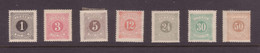 SWEDEN 1874 And Later Postage Due Set Perf. 14 Mint - Impuestos