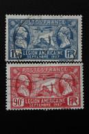 1927,FRANCE Y&T NO 244 ET 245 90C ROUGE ET 1f.50 OUTREMER VISITE DE LA LEGION AMERICAINE  OBLITERES...TB - Ohne Zuordnung