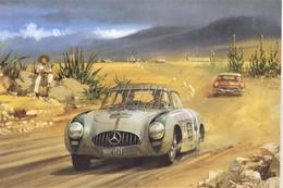 Carrera Panamerica Rally 1952  -  Mercedes 300SL  -  Karl Kling/Hans Klenk -  Artist Michael Turner  -  CPM - Rally Racing