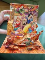 Carte D'anniversaire Disney  A Déplier Blanche Neige - Disney