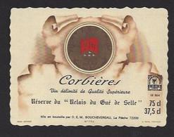 Etiquette De Vin  Corbières  -  Relais Du Gué De Selle à Mézangers  (53)  -  Bouchevereau  La Flèche (72) - Sin Clasificación
