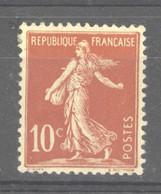 0ob  0513  -  France  :  Yv  134a  *   Type I - 1906-38 Semeuse Camée