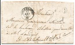 SARTHE LAC 1851 SABLE SUR SARTHE T15 TAXE 25 ET BOITE RURALE F = PARIGNE - 1849-1876: Classic Period
