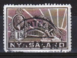Nyasaland 1934 Single One Penny Definitive Stamp. - Nyassaland (1907-1953)