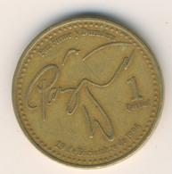 GUATEMALA 1999: 1 Quetzal, KM 284 - Guatemala