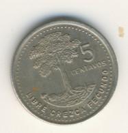 GUATEMALA 1988: 5 Centavos, KM 276 - Guatemala