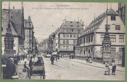CPA - BAS RHIN - STRASBOURG - PONT DES CORBEAUX ET RUE DU VIEUX MARCHÉ AUX POISSONS - Belle Animation, Tramways- - Strasbourg