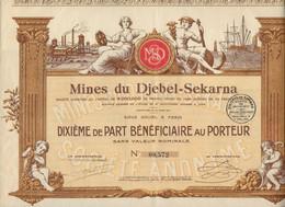 MINES DE ZING DU DJEBEL-SEKARNA -TUNISIE - ACTION ILLUSTREE -DIXIEME DE PART - 1925 - Mineral