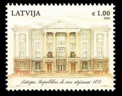 2021 Latvia Lettland LETTONIA  Recognition Of Latvia's Independence - LATVIA DE JURE MNH + ARHITEKTURE - Letland