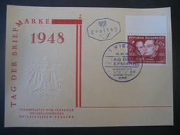 Österreich 1948- FDC Karte Und Sonderstempel Tag Der Briefmarke  Auf MiNr. 928 - FDC