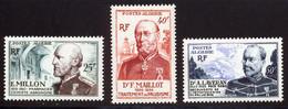 Algerie 1953 Yvert 304 / 306 ** TB Coin De Feuille - Unused Stamps