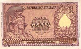 BANCONOTE BANCA D'ITALIA 100 LIRE 1951 VF/F III - 100 Lire
