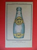 Carton Publicité PERRIER Citron Delirantus Citrus - Vulgarus Citrus - Perrier