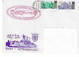 41 JDA -PORTE-HÉLICOPTÈRES JEANNE D'ARC - GEAOM 2003-2004 - ESCALE DE ST PETERSBOURG + 22 S - TP RUSSES - Naval Post