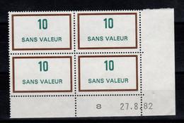 Coin Daté - Fictif - YV F236 N** Luxe Du 27.8.82 - Autres