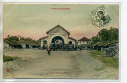 TONKIN COCHINCHINE GO VAP  Le Marché Carioles Sur La Place  1912 Timb     /D01-2018 - Vietnam