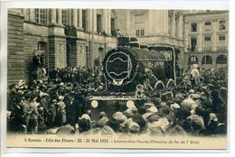 35 RENNES Lamiré 5- Locomotive Fleurie Chemin De Fer De L'Eta Mai 1923 Fete Des Fleurs    /D01-2018 - Rennes