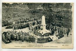 51 CHALONS Sur MARNE ND 3-   Cimetiere Militaire Cérémonie Patriotique Des Societes Chalonnaises  1920      /D01-2018 - Châlons-sur-Marne