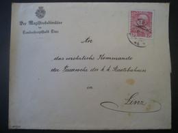 Österreich- Magistrats-Brief An Des Kommando Der Feuerwehr In Linz - Covers & Documents