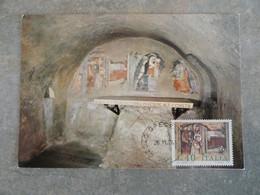 CARTE MAXIMUM CARD CRECHE (FRESQUE DU XIVe SIECLE) ITALIE - Andere