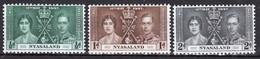 Nyasaland 1937 Set Of Stamp Issued To Celebrate The Coronation. - Nyassaland (1907-1953)