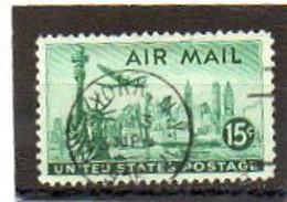 ETATS-UNIS       15 C   1947    Y&T:37   Poste Aérienne    Oblitéré - 2a. 1941-1960 Usados