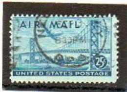 ETATS-UNIS       25 C   1947    Y&T:38   Poste Aérienne    Oblitéré - 2a. 1941-1960 Usados