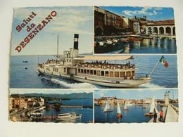 SALUTI  DA  DESENZANO   LAGO DI GARDA  BATTELLO   NAVE SHIP  BOAT     BARCA    BATTELLO  FORMATO GRANDE - Houseboats