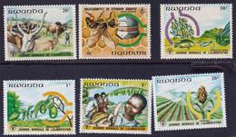 RWANDA - Journée Mondiale De L'alimentation - Y&T N° 1094-1101 - MNH - 1986 - 1980-89: Neufs