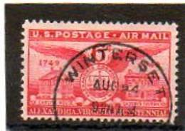 ETATS-UNIS       6 C   1949    Y&T:40   Poste Aérienne    Oblitéré - 2a. 1941-1960 Usados