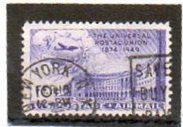 ETATS-UNIS       10 C   1949    Y&T:41   Poste Aérienne    Oblitéré - 2a. 1941-1960 Usados