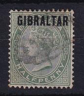 Gibraltar: 1886   QV 'Gibraltar' OVPT     SG1    ½d     Used - Gibraltar