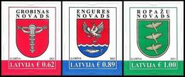 2021 Latvia Lettland LETTONIA  Coats Of Arms Of Small Cities & Regions Of Latvia - Letland