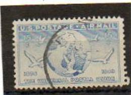 ETATS-UNIS       15 C   1949    Y&T:42   Poste Aérienne    Oblitéré - 2a. 1941-1960 Usados