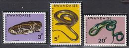 RWANDA - Faune, Reptiles - Y&T N° 191-198, Sauf N° 192 - MNH - 1987 - 1980-89: Neufs